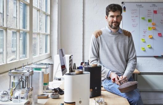 IKAWA Founder Andrew Stordy portrait in East London Office