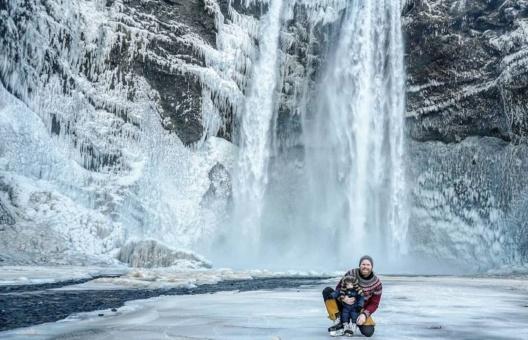 Islandia z dzieckiem. Ulfar i jego córka.
