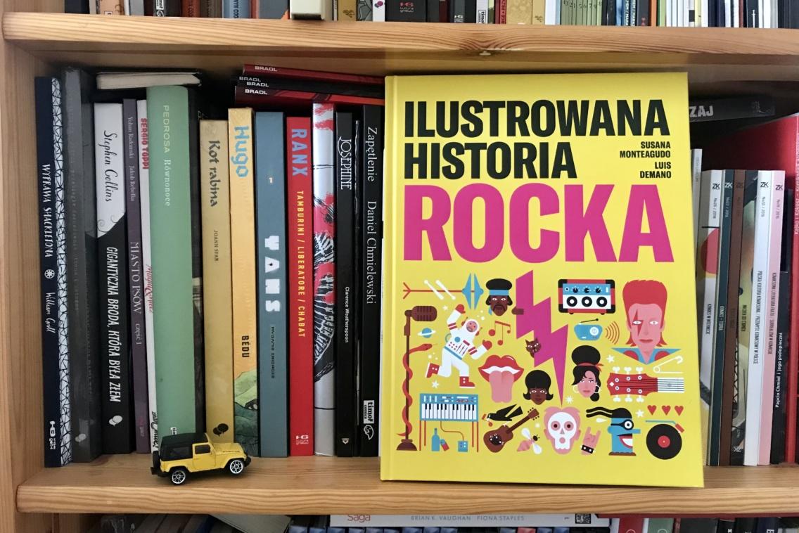 Okładka Ilustrowana historia rocka